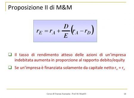 Cos'è il teorema di Modigliani – Miller? Quali sono le proposizioni di Modigliani – Miller?